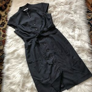 Sandra Darren Belted Trench Coat Dress 4P